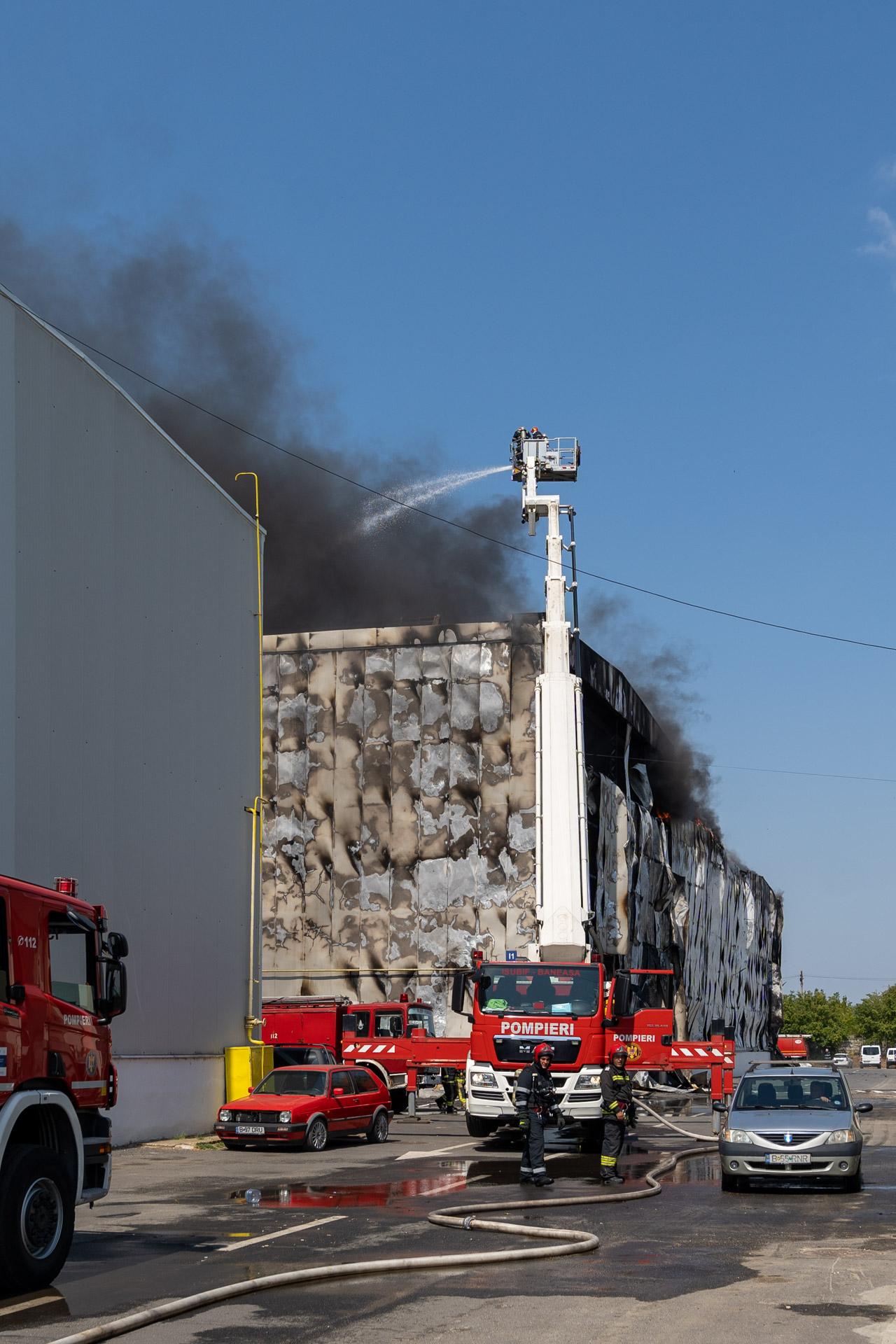 incendiul din zona pipera