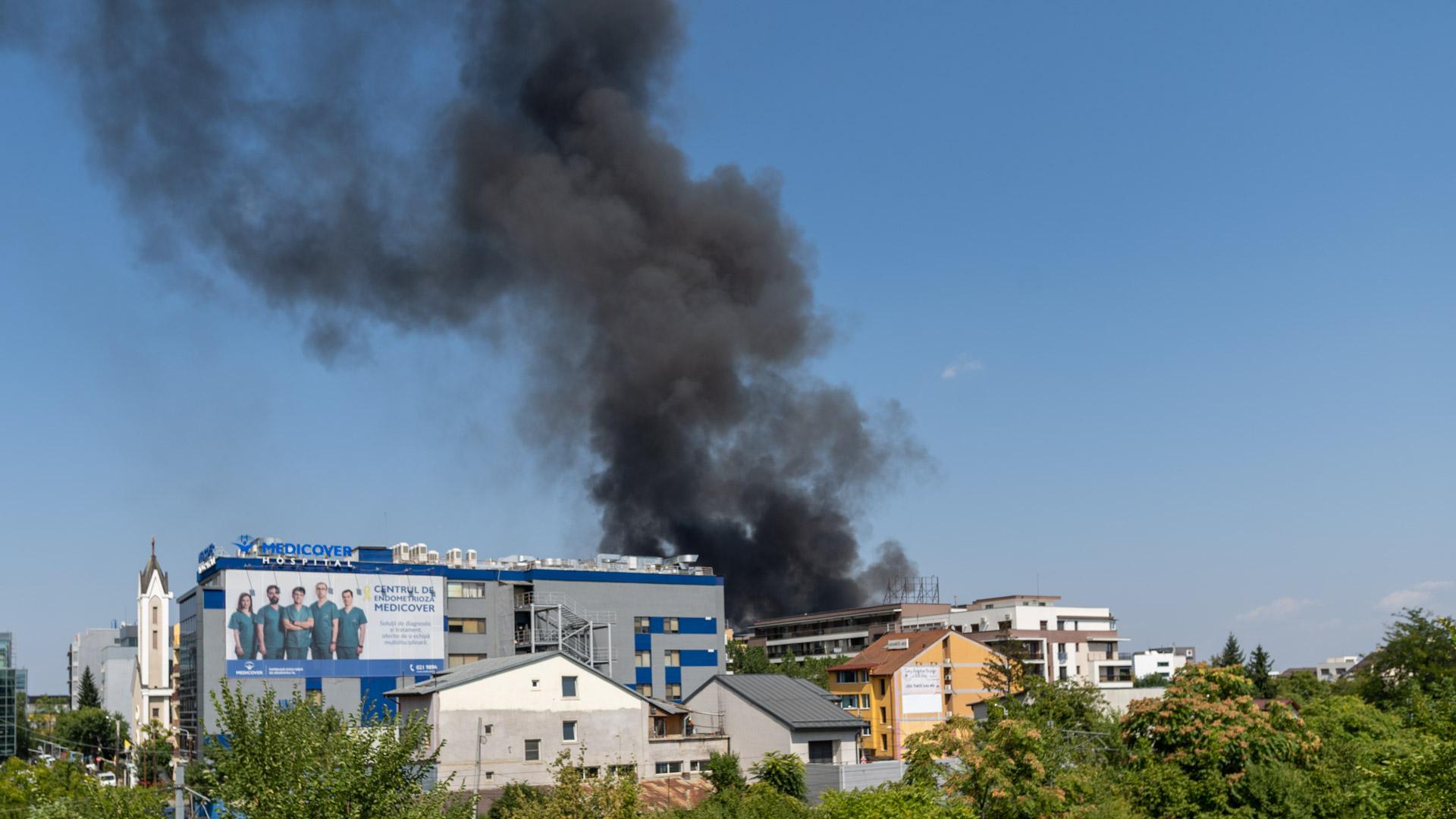 incendiul din zona pipera)