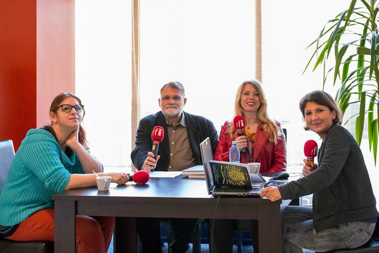 Adina Popescu, Florin Bican, Ioana Nicolaie și Mihaela Dedeoglu la FILTM