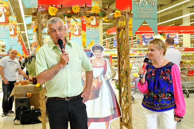 Philippe Lejeune - Director General Cora Romania, Ana Maria Florea PR cora Romania