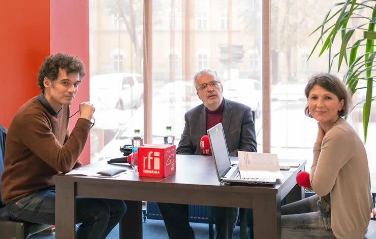 Cyrille Fierobe, Jacques Le Rider la FILTM și Mihaela Dedeoglu la FILTM