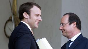 Emmanuel Macron şi François Hollande, credit foto: rfi.fr