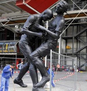 Zidane, o statuie controversată la Beaubourg