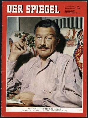 "Rezzori pe coperta revistei ""Der Spiegel"", 1.1. 1959"