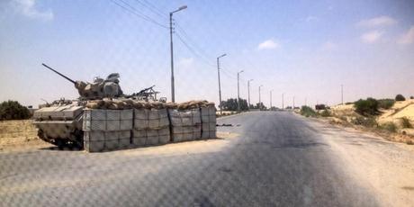 Punct de control în Peninsula Sinai (Foto: Reuters)