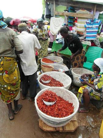 Ardeiul iute este un ingredient de baza pentru mancarea ghaneza