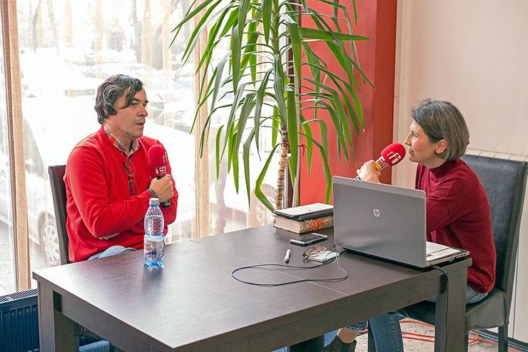 Mircea Cărtărescu si Mihaela Dedeoglu la Festivalul International de Literatura de la Timisoara