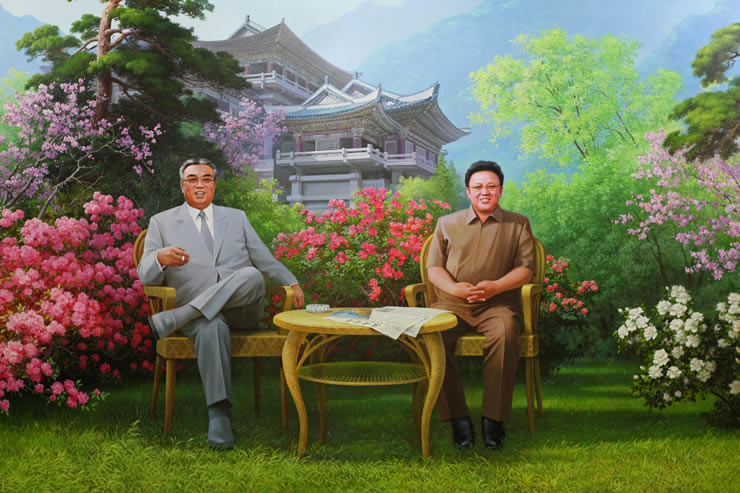 Kim Il Sung și Kim Jong Il