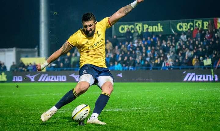 Florin Vlaicu a marcat șapte puncte din lovituri de picior și este cel mai prolific marcator în activitat din rugby-ul internațional cu 844 de puncte