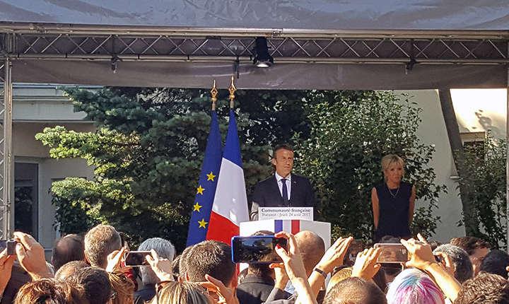 Emmanuel Macron la București
