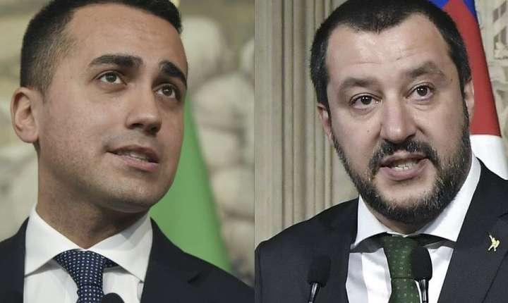 Luigi Di Maio şi Matteo Salvini, populismul de stînga şi populismul de dreapta la Roma