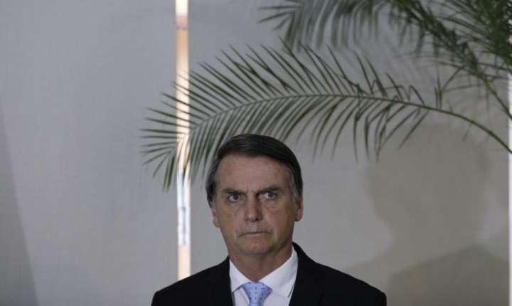 Jair Bolsonaro la o conferinţă de presă pe la Rio de Janeiro pe 29 decembrie 2018
