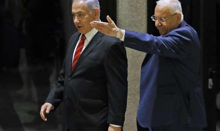 Benjamin Netanyahu împreună cu preşedintele Reuven Rivlin