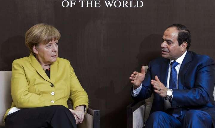 Angela Merkel si presedintele egiptean Abdel Fattah al-Sissi