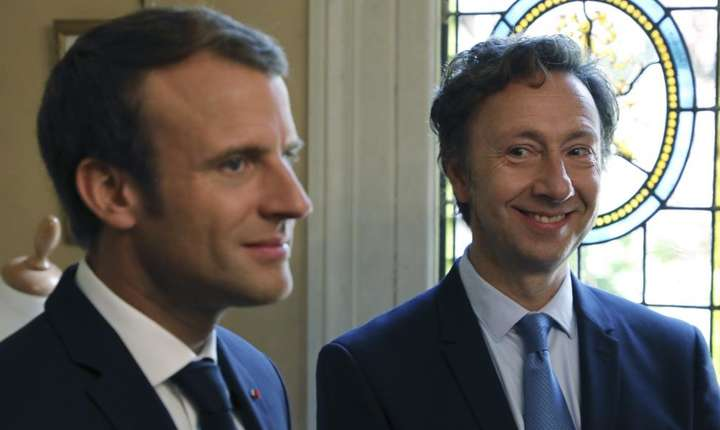 Emmanuel Macron si Stéphane Bern