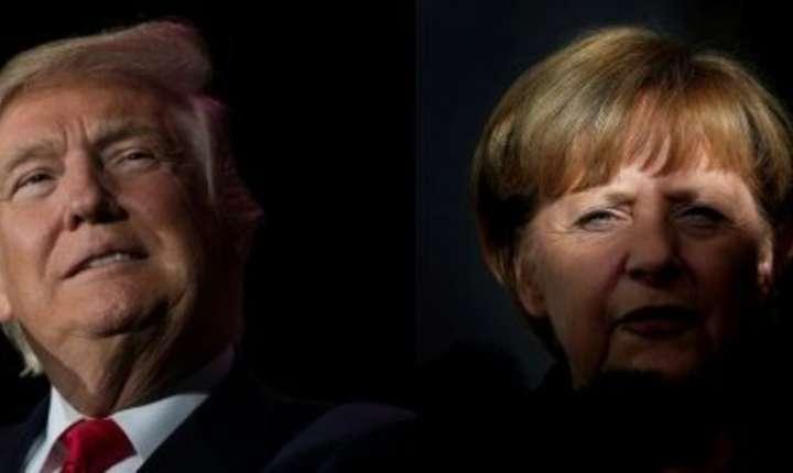 Donald Trump si Angela Merkel