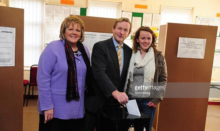 Enda Kenny la vot