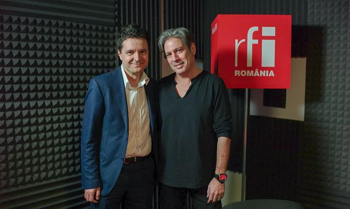 Nicușor Dan și Nicolas Don in studioul RFI Romania