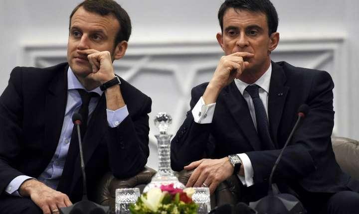 Emmanuel Macron si Manuel Valls, candidati la prezidentiale