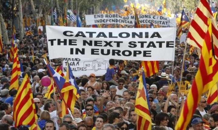 Manifestatie în favoarea independentei în Catalonia