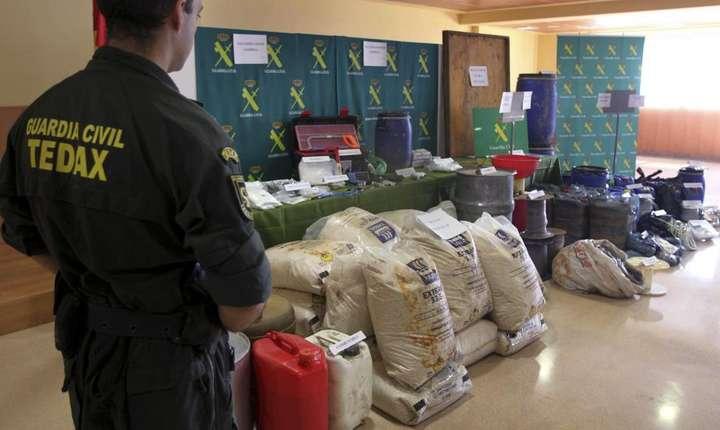 Material militar gasit în ascunzatorile ETA în 2011