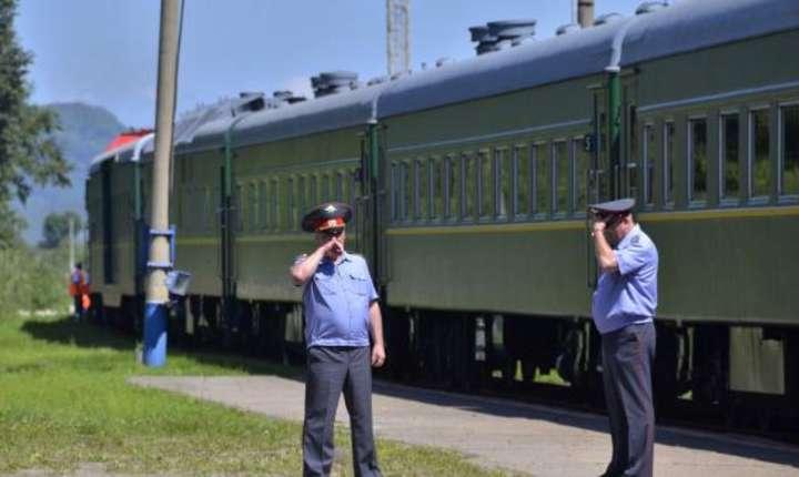 Tren blindat utilizat de Kim Jong il în cursul unei vizite în Rusia