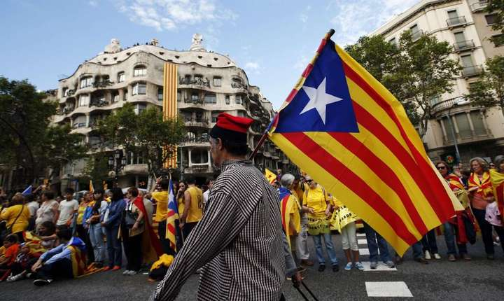 Catalonia, militanti pro-independenta la o manifestatie pe 11 septembrie 2013