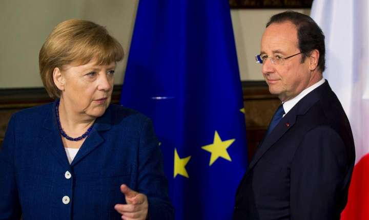 Angela Merkel si François Hollande