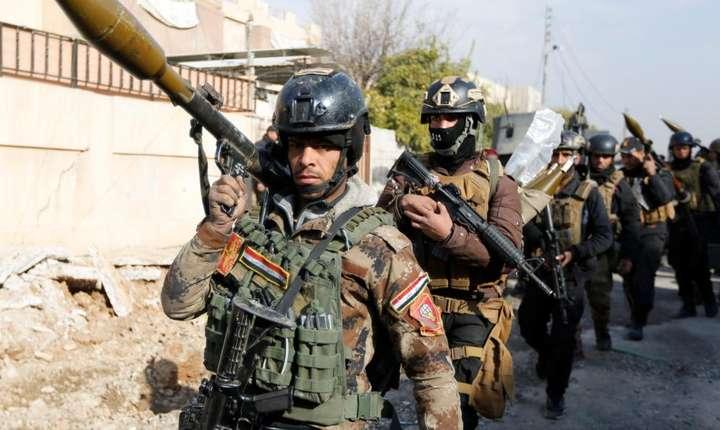Forte speciale irakiene la Mosul