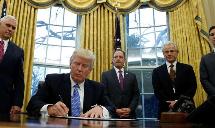 Preşedintele american Donald Trump la Casa Albă