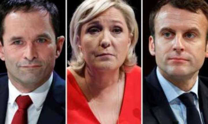 François Fillon, Benoît Hamon, Marine Le Pen, Emmanuel Macron, Jean-Luc Mélenchon
