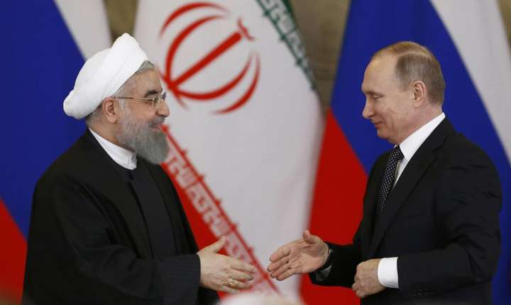 Hassan Rohani si Vladimir Putin