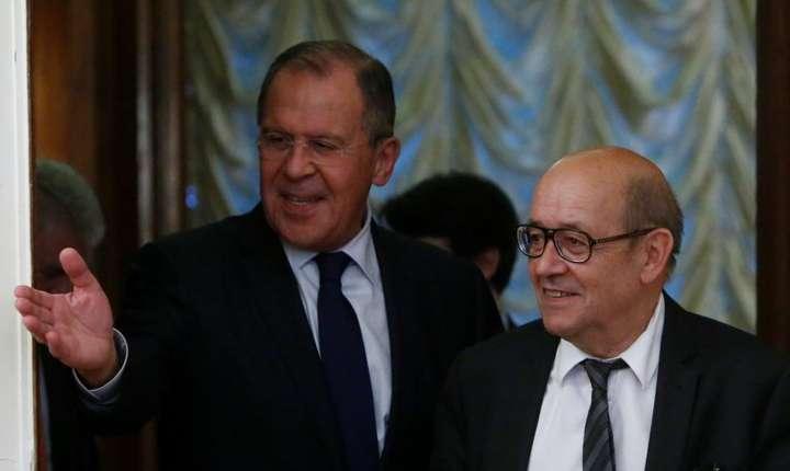Serghei Lavrov si Jean-Yves Le Drian