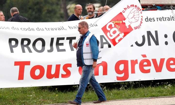 CGT, sindicatul cel mai mobilizat împotriva reformelor preconizare de Emmanuel Macron