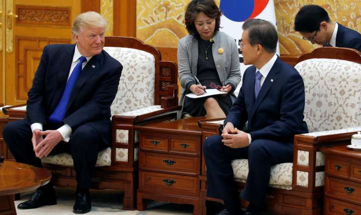 Seul, Coreea de sud: Donald Trump si Moon Jae-in