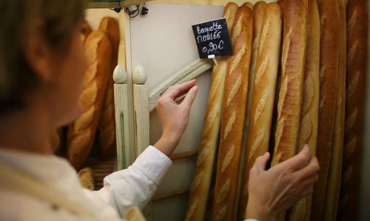 Baghete într-o brutarie la Nantes