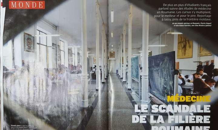 Revista L'Express publicà un reportaj de 5 pagini despre studentii francezi din România