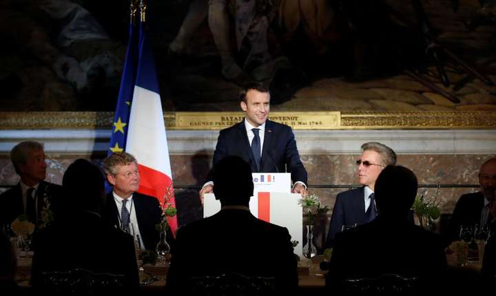 Emmanuel Macron la precedentul summit Choose France