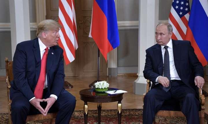 Donald Trump si Vladimir Putine, luni 16 iulie 2018, Helsinki.