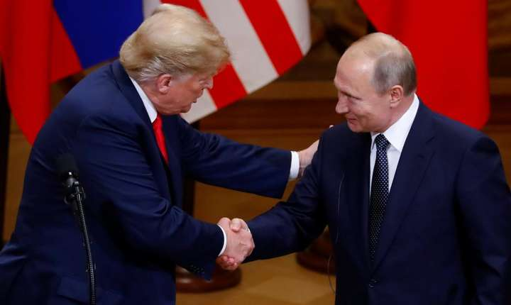 Presedintele american Donald Trump si omologul sau rus Vladimir Putin, Helsinki, 16 iulie 2018.