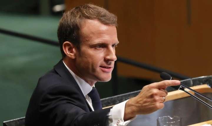 Emmanuel Macron la tribuna ONU, 25 septembrie 2018.