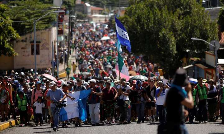 Caravana migranţilor la Tapachula, Mexic, pe 22 octombrie 2018.