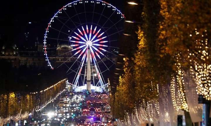 Noaptea de Anul Nou, Place de la Concorde, Paris