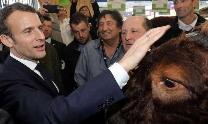 Emmanuel Macron la Salonul agriculturii, Paris, 23 februarie 2019