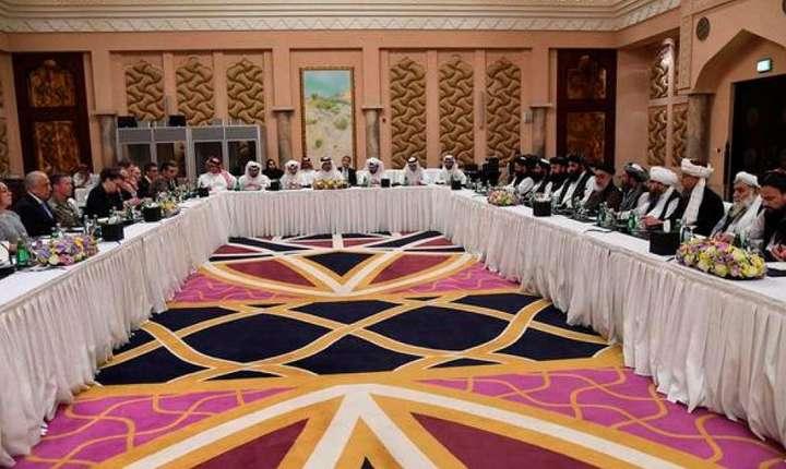 Negocieri la Doha, în Qatar, pe 26 februarie 2019, între americani şi talibani