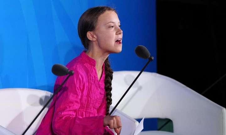 Suedeza Greta Thunberg cu accente acuzatoare la sediul l'ONU pe 23 septembre 2019.