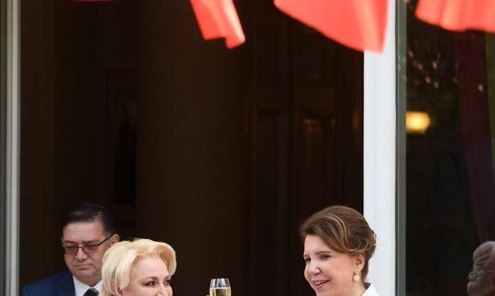 Viorica Dăncilă și Michele Ramis