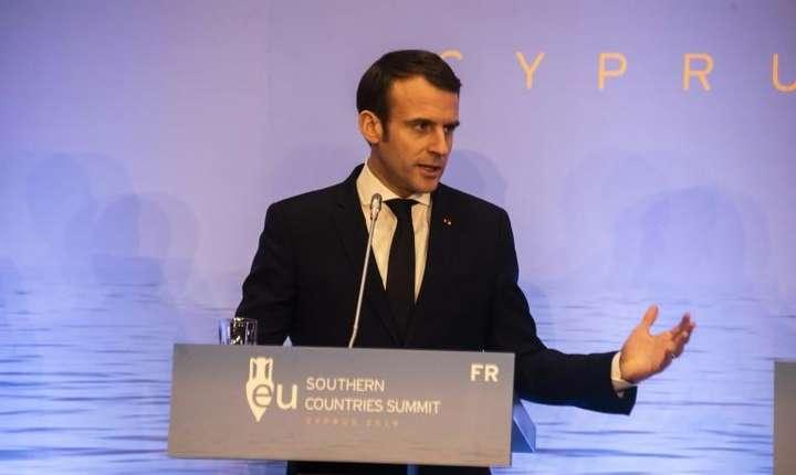 Emmanuel Macron la summit-ul EuroMed 7, Nicosia, 29 ianuarie 2019