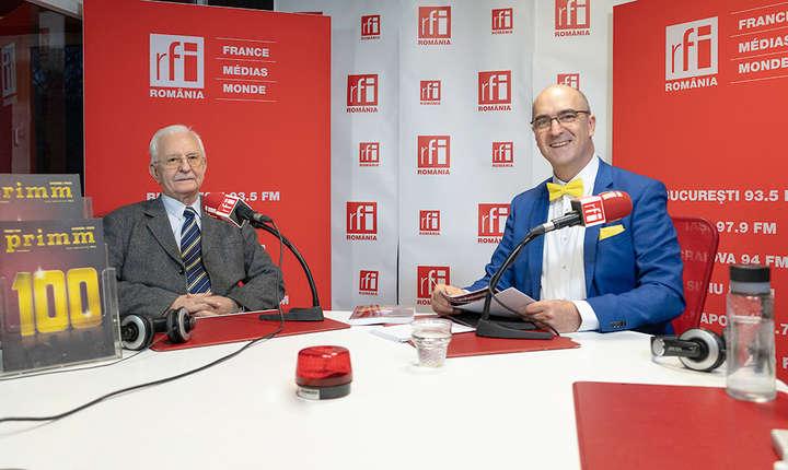 Florian BERCEA şi Sergiu COSTACHE in studioul RFI Romania