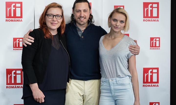Tania Ignat,Dan Pavel şi Sorina Dăescu Topceanu in studioul radio RFI Romania la Business ON AIR